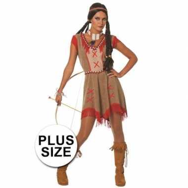 Grote maten indianen jurkje voor dames