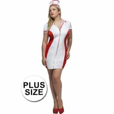 Grote maten verpleegster kostuum voor dames
