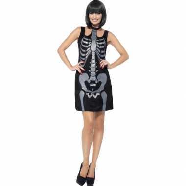 Halloween jurkje skelet opdruk
