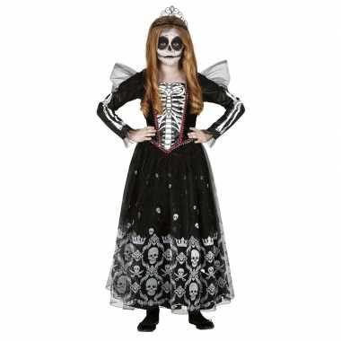 Halloween skelet jurk met doodshoofden voor meisjes