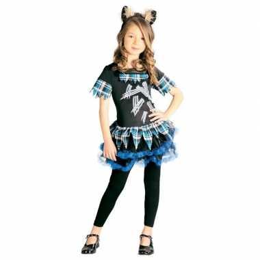 Halloween weerwolf jurkje met haarband voor meisjes