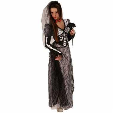 Halloween zombie jurk zwart