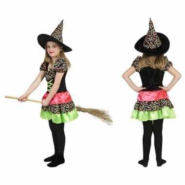 Heksen jurk met hoed voor meisjes