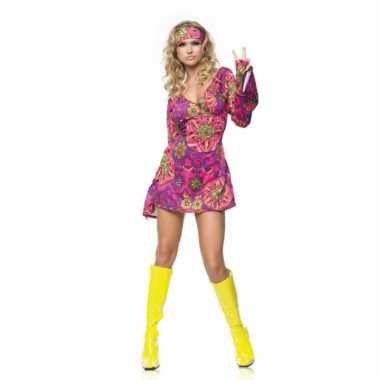 Hippie girl gekleurde jurk