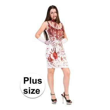 Horror jurk met bloedspetters voor dames xxl