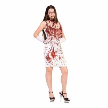 Horror jurk met bloedspetters voor dames
