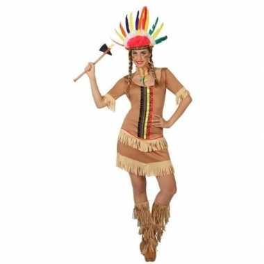 Indianen kostuum/jurkje manipi voor dames