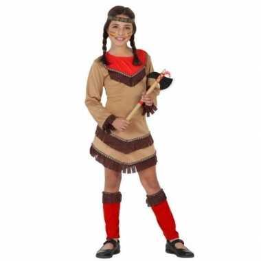 Indianen verkleedjurk chinouk voor meisjes rood