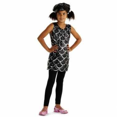 Jurkje met zwarte pailletten voor meisjes