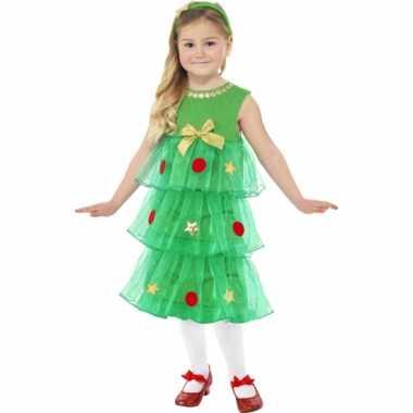 Kerstboom tutu jurkje voor meiden