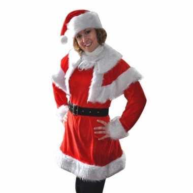 Kerstjurk noel met cape voor dames