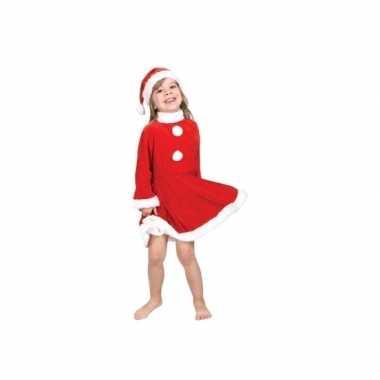 Kerstmeisje kostuum met kerstmuts