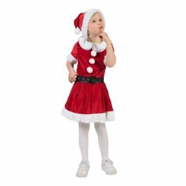 Kerstvrouw jurk met riem voor meisjes