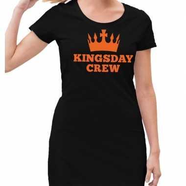 Kingsday crew jurkje zwart dames