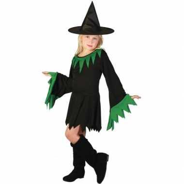 Korte zwarte heksenjurk voor meisjes