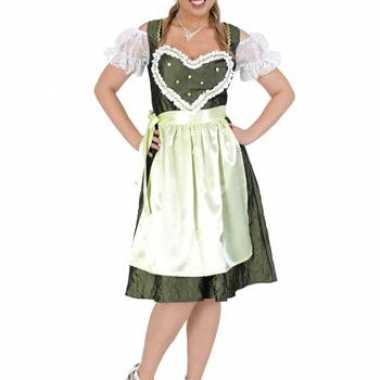 Lange groene oktoberfest jurk voor dames