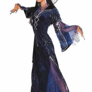 Lange paarse heksenjurk dames