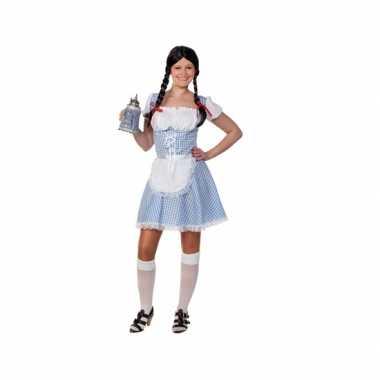 Lichtblauw oktoberfest jurkje voor dames