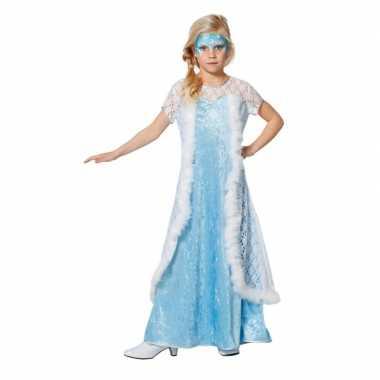 Lichtblauwe ijsprinses jurk voor meisjes