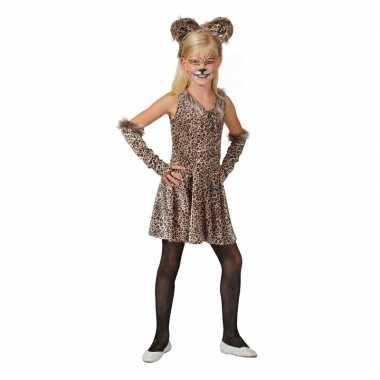 Luipaard jurkje met accessoires voor meisjes