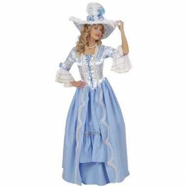 Luxe jurk blauw hofdame
