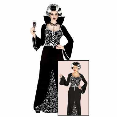 Luxe lange dracula jurk voor dames