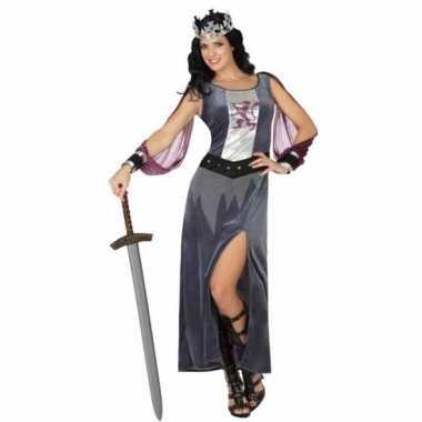 Middeleeuws koninginnen verkleed kostuum jurk voor dames