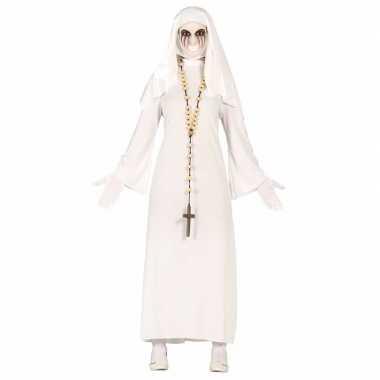 Nonnen dames verkleedkleding wit