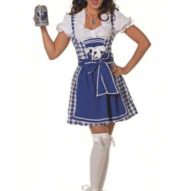 Oktoberfeest blauwe damesjurk