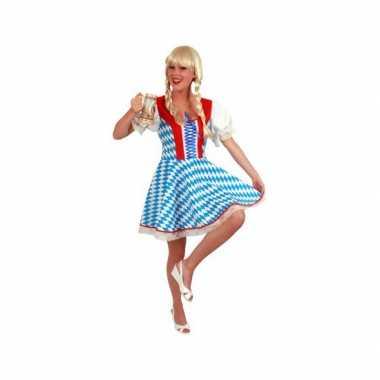 Oktoberfest jurk blauw voor dames