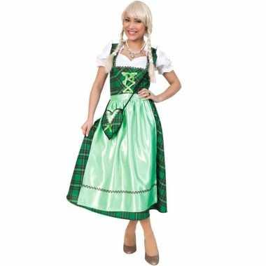 Oktoberfest jurkje met schotse ruit groen