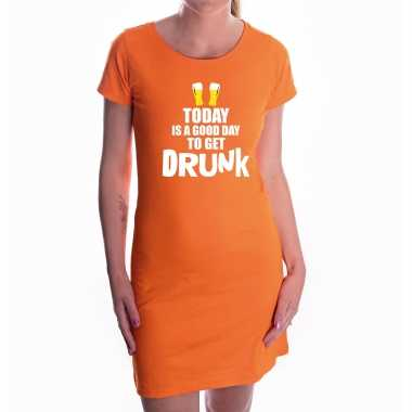 Oranje good day to get drunk dress - koningsdag jurkje voor dames
