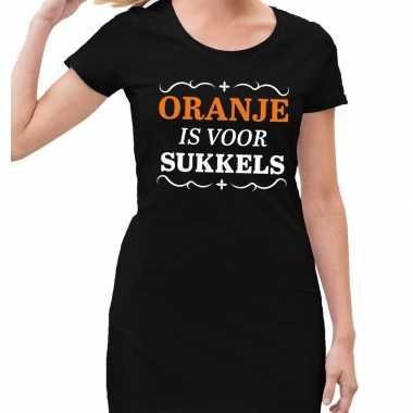 Oranje is voor sukkels jurk zwart dames