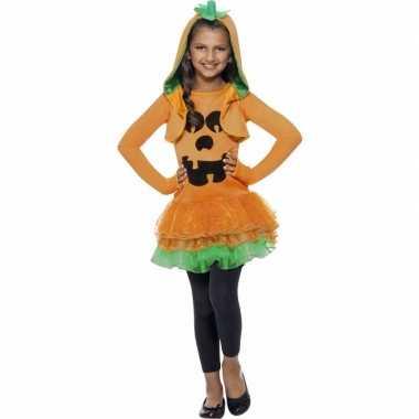 Oranje pompoenen jurkje voor meiden