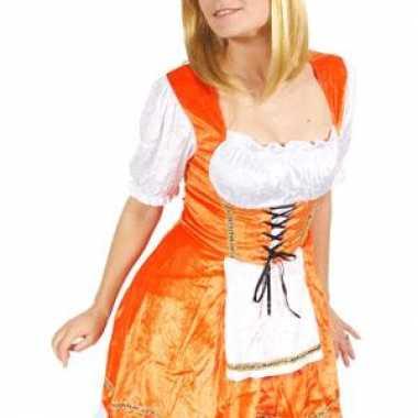 Oranje sexy kaasmeisjes jurk