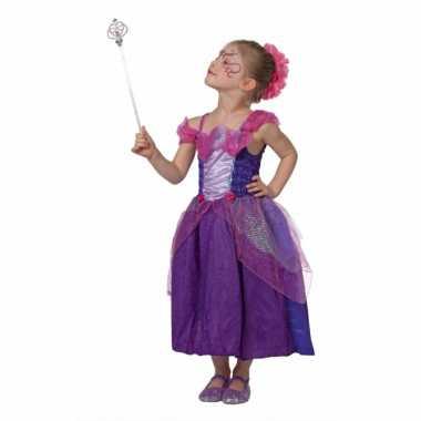Paarse sprookjes jurk voor meisjes
