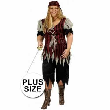Piraten kleding grote maat voor vrouwen