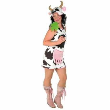 Pluche koeien jurk voor dames