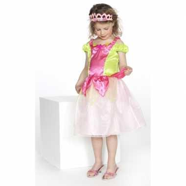 Prinsessen jurkje kimberly roze groen