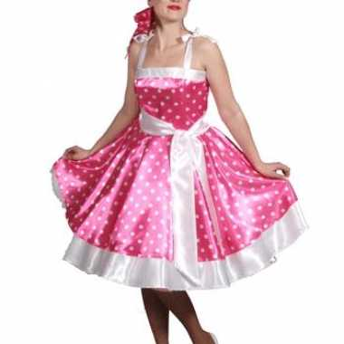 Roze jurk jaren 50 dames