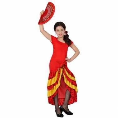 Rode flamenco verkleedjurk voor kids
