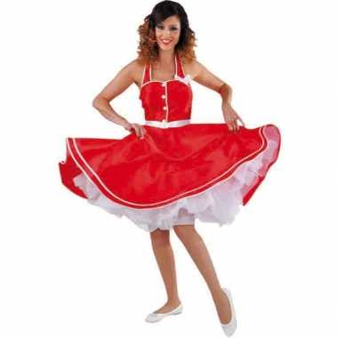 Rode jaren 50 jurk voor dames