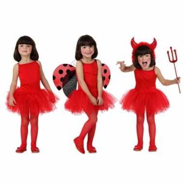 Rood ballet kostuum voor meisjes