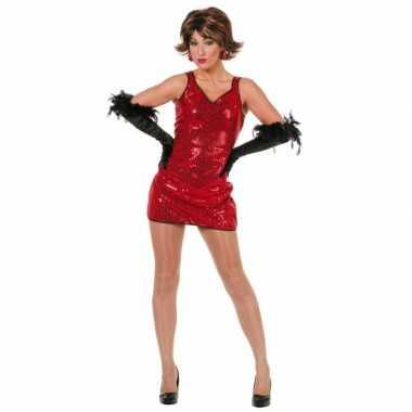 Rood glitterjurkje voor dames