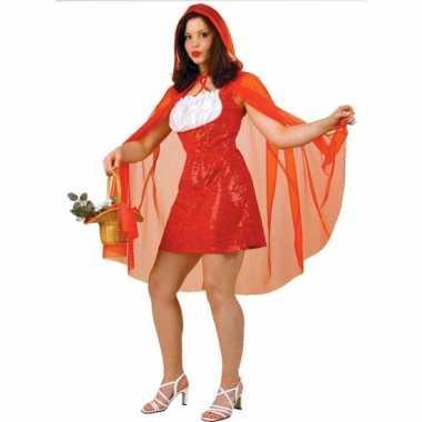 Roodkapje dames kostuum met cape