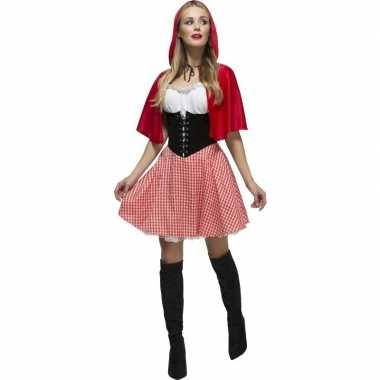 Roodkapje verkleedkleding voor dames
