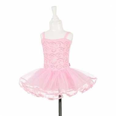 Roze balleria jurk met pailletten