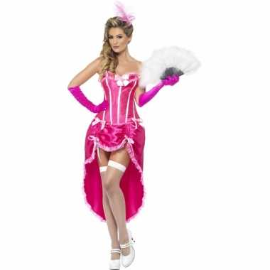Roze burlesque danseressen jurk