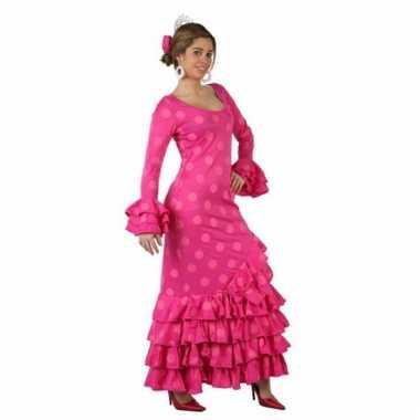 Roze flamenco jurk voor dames