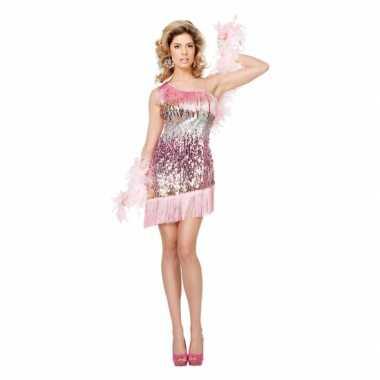 Roze jurkje met pailletten